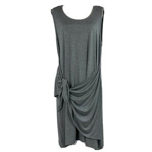 Style & Co Dress Sleeveless Stretch Tie Front